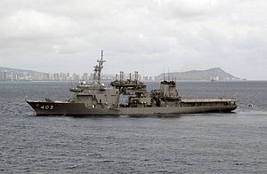 JS Chiyaha (AS-403) at Honolulu, -8 Nov. 2001 a.jpg