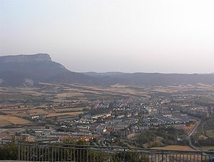 Jaca - Jaca as viewed from the Rapitan fort.