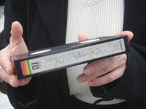 Jack Valenti signature closeup Betamax Grokste...