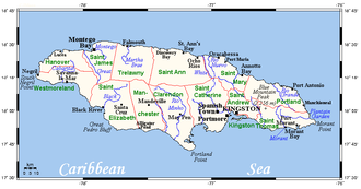 Outline of Jamaica - An enlargeable map of Jamaica