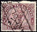 Jamaica telegraph stamp used Spanish Town 1902.jpg