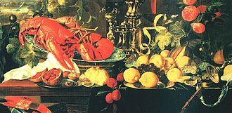 Kraak ware - Jan Davidszoon de Heem (1606–1683/4), A Banquet Still Life, Detail, 1642; Oil on Canvas; New York