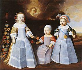 Portrait of Frederika, Edzard Jacob and Lambert Tjarda van Starkenborgh