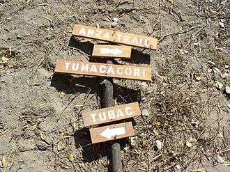 Juan Bautista de Anza National Historic Trail - Image: Jbda trail az 2