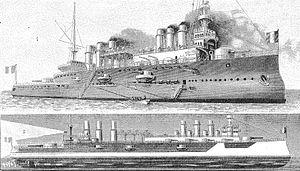 French cruiser Jeanne d'Arc (1899) - Image: Jeanne d Arc Poyet