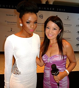 Bonang Matheba - Bonang Matheba (left) and Jennifer Su in 2013