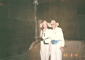 Jenna and Joe Ware in Egypt Khufus great pyramid kings chamber.png