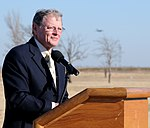 Jim Inhofe delivers a speech at the radar approach control groundbreaking ceremony.jpg