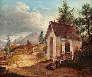 Johann Fischbach - Image: Johann Fischbach Rast vor der Kapelle