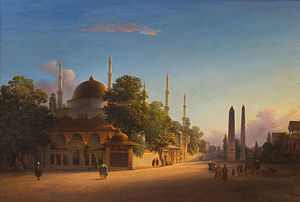 Johann Martin Bernatz - The Sultan Ahmed Mosque in Istanbul