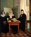 Johann Wilhelm von Eynern (1773–1845) und Johanna Katharina, geborene Rittershaus (1779–1842) und ihre Tochter Nanette (1806–1875), 1846.png