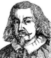 1800-taleafbildning af Johannes Magnus i 1600-talsdrækt