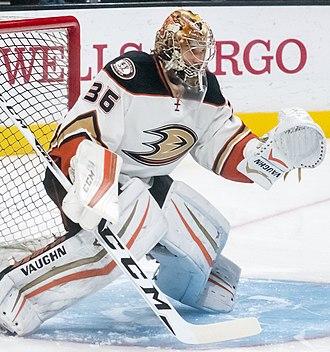 John Gibson (ice hockey, born 1993) - Image: John Gibson (26286847896) (cropped)