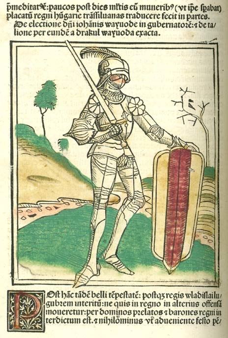 John Hunyadi - Johannes de Thurocz - Chronica Hungarorum, Brno 1488