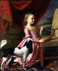 John Singleton Copley: Young Lady with a Bird and a Dog