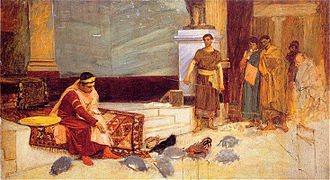 The Favourites of the Emperor Honorius - Study for The Favourites of the Emperor Honorius