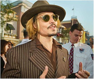 Pirates of the Caribbean: The Curse of the Black Pearl - Depp (shown here in 2009) earned universal acclaim for his performance as Jack Sparrow and won the Screen Actors Guild Award for Outstanding Performance by a Male Actor in a Leading Role. It later earned him nominations for the Academy Award for Best Actor, BAFTA Award for Best Actor in a Leading Role, and Golden Globe Award for Best Actor – Motion Picture Musical or Comedy.