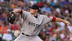 Jon Lester jako zawodnik Boston Red Sox.