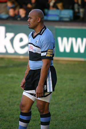 Jonah Lomu - Jonah Lomu playing for Cardiff in 2006