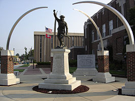 Craighead County Veteranen monument in het centrum van Jonesboro.