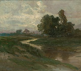 Night Landscape with a Brook