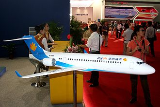 Comac ARJ21 - Model of an ARJ21 from Joy Air seen at the Airshow China 2008 in Zhuhai