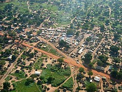 Part of Juba, from the air.