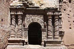 Portal of the Santa Cruz church in Juli
