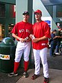 Justin Masterson and Javier López 2008.jpg