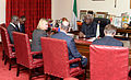 Justine Greening talks with Sierre Leone's President Koroma on joint efforts to beat Ebola (14982045063).jpg