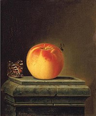 Still Life with Apple and Insects