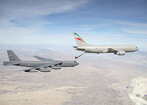 Boeing KC-767 - A KC-767 for the Italian Air Force refueling a USAF B-52H, 2007