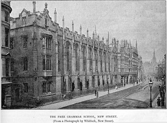 J. R. R. Tolkien - King Edward's School in Birmingham, where Tolkien was a student (1900–1902, 1903–1911)