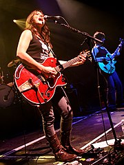 Tunstall performing at the Cardiff Union on October 19, 2005.