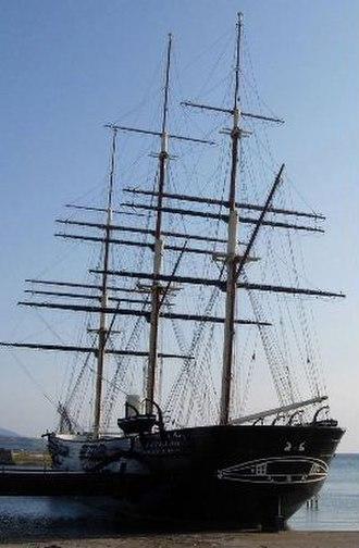 Japanese frigate Kaiyō Maru - Kaiyō Maru replica in Esashi