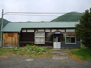 Kami-Shirataki Station Former railway station in Engaru, Hokkaido, Japan