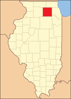 Kane County, Illinois - Image: Kane County Illinois 1836