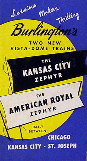 American Royal Zephyr - Brochure for the new trains.