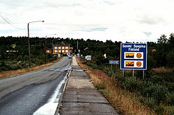 Entering Finnish Kaaresuvanto from Sweden