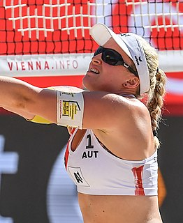 Katharina Schützenhöfer Austrian volleyball and beach volleyball player