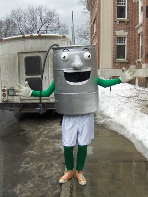 Keggy the Keg - The new incarnation of Keggy, as revealed at Winter Carnival 2009