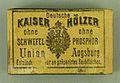 Kempten AllgäuMuseum Streichhölzer von Union Augsburg.jpg