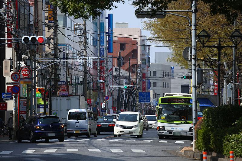 File:Kenchodori ave.Urawa.jpg