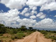 Kenya has many miles of beautiful, undeveloped countryside.