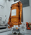 Kepler in Astrotech's Hazardous Processing Facility (KSC-2009-1645).jpg