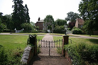 Kettlethorpe Hall - The gateway and hall seen from the church