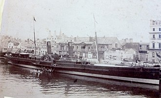 SS King Orry (1871) - King Orry berthed at the Office Berth, Douglas.