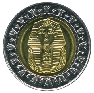 "Bi-metallic coin - 2008 ""King Tutankhamun"" bi-metallic Egyptian pound"