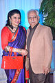 Kiran Juneja, Ramesh Sippy at Esha Deol's wedding reception 01.jpg