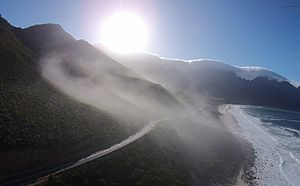R44 road - An aerial photograph of the R44.